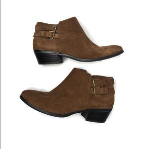 Sam Edelman brown suede ankle booties size 6 1/2
